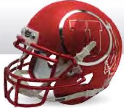 Utah Utes Miniature Football Helmet Desk Caddy Satin Red Chr