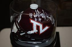 Virginia Tech Hokies Bruce Smith Signed Autograph Schutt Min