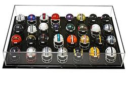 Acrylic Deluxe Clear Miniature Pocket Size Football or Baseb