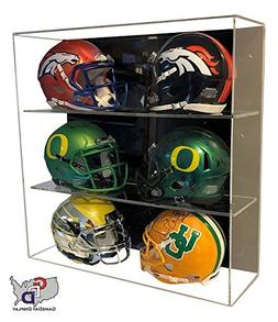 GameDay Display Acrylic Wall Mount 6 Six Mini Helmet Display