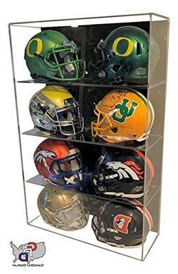 GameDay Display Acrylic Wall Mount 8 Eight Mini Helmet Displ