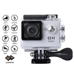 GULEEK 1080P Sports Action Camera Full HD Wide Angle Lens 2.