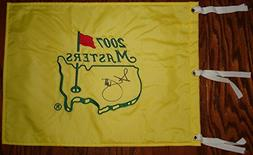 Adam Scott Hand Signed / Autographed 2007 The Masters Flag -