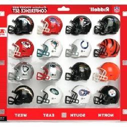 AFC Conference  Revolution Style Pocket Pro NFL Helmet Set b