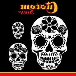 Custom Shop Airbrush Sugar Skull Day Of The Dead Stencil Set