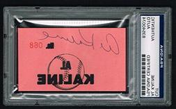 Al Kaline signed autograph auto 2x3.5 cut Baseball Hall of F