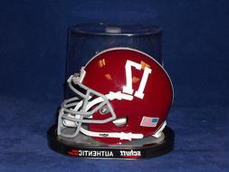 Alabama Crimson Tide # 17 Authentic Schutt Mini Helmet New 2
