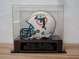 Any Player Or Team Football Mini Helmet Display Case With An