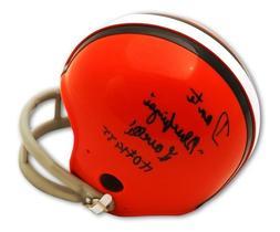 Autographed Dante Lavelli Cleveland Browns Mini Helmet inscr