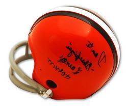 "Autographed Dante Lavelli Mini Helmet inscribed HOF 1975 & """