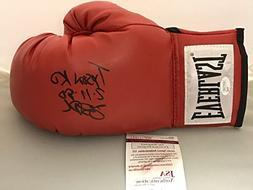 "Autographed/Signed James Buster Douglas ""Tyson KO 2-11-90"" R"