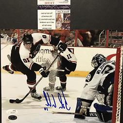 Autographed/Signed John LeClair Philadelphia Flyers 8x10 Hoc