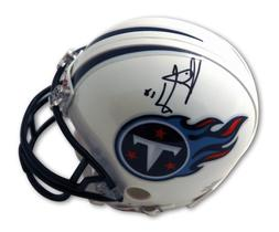 Autographed Vince Young Tennesee Titans Mini Helmet