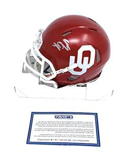 Baker Mayfield Oklahoma Sooners Signed Autograph Speed Mini