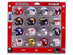 Big 10 Conference 2014 Pocket Pro Mini Football Helmet Set -