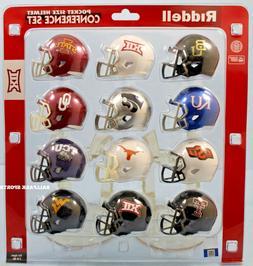 """BIG 12 CONFERENCE - Riddell NCAA """"SPEED"""" Pocket Pro Helmet S"""