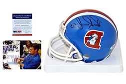 Bill Romanowski Signed Mini Helmet - Denver Broncos Autograp