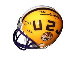 "Billy Cannon Autographed LSU Tigers Mini Helmet w/""Heisman 5"