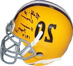 Billy Cannon Signed LSU Tigers Vintage TB Schutt Mini Authen