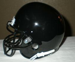 Schutt Black Blank Shell Mini Football Helmet w/ BLK Metal M