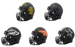 black eclipse revolution speed mini football helmet