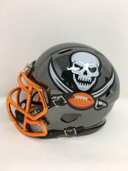 Buccaneers custom black CHROME  riddell speed mini helmet