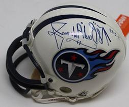 Bud Adams Signed Mini Helmet Tennessee Titans Autographed Oi