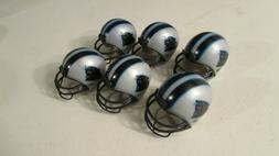 Carolina Panthers 6 pack mini gumball cake topper NFL helmet