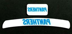 CAROLINA PANTHERS MINI HELMET DECAL SET