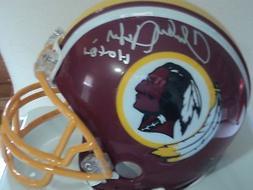 Charley Taylor signed Redskins mini helmet, COA, HOF 84