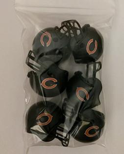 """NFL 6 Pack Chicago Bears 2017 Helmet Mini Football 2"""" Inch H"""