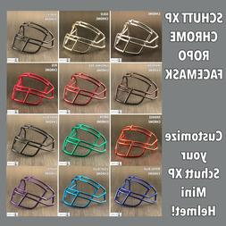 Chrome Schutt ROPO Custom XP Mini Helmet Facemask Red Gold B