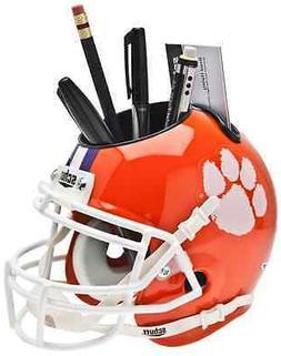 CLEMSON TIGERS NCAA Schutt Mini Football Helmet DESK CADDY