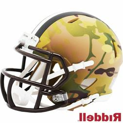 cleveland browns camo alternate speed mini helmet