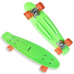 Datechip Kids Complete Skate Boards - 22 inch Plastic Skateb