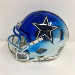 Cowboys custom two tone CHROME  riddell speed mini helmet
