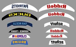 Custom Football Helmet Back Bumper Decal FULL SIZE or MINI S