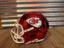 Custom Kansas City Chiefs Chrome Speed Mini Helmet