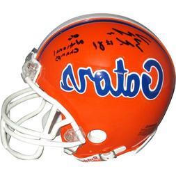 """Dallas Baker Autographed Florida Gators Mini Helmet w/""""06 Na"""