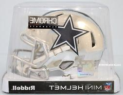 DALLAS COWBOYS - Chrome Alternate Riddell Speed Mini Helmet