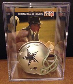 Dallas Cowboys Throwback NFL Helmet Shadowbox w/ Tom Landry