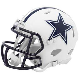 Dallas Cowboys White Matte Speed Mini Helmet New In Box 2549