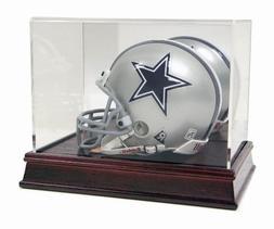 Deluxe Acrylic Mini Football Helmet Display Case with Cherry