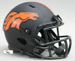 DENVER BRONCOS - Black Eclipse Riddell Speed Mini Helmet