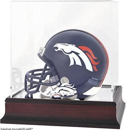 Denver Broncos Mahogany Mini Helmet Logo Display Case