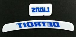 DETROIT LIONS MINI HELMET DECAL SET