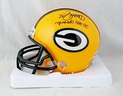 Dorsey Levens Signed Green Bay Packers Mini Helmet W/SB Cham