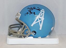 Earl Campbell Autographed Houston Oilers 60-62 TB Mini Helme