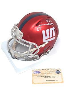 Eli Manning New York Giants Signed Autograph BLAZE Mini Helm