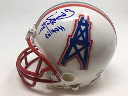 Elvin Bethea Signed Autographed Mini Helmet Oilers